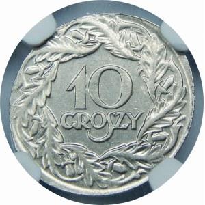 DESTRUKT 10 groszy 1923