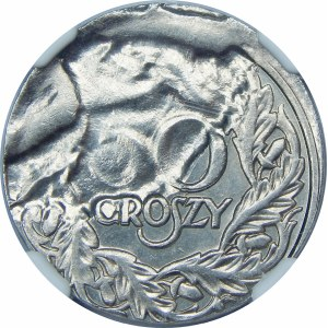 DESTRUKT 50 groszy 1923