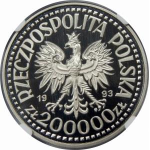 PRÓBA NIKIEL 200000 Złotych Jagiellończyk 1993