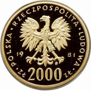 2000 złotych Władysław I Herman 1981