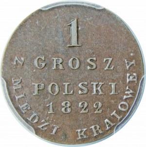 Królestwo Polskie, 1 grosz polski 1822 – Z MIEDZI KRAIOWEY – super