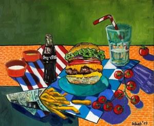 David Schab, Martwa natura z burgerem, 2020