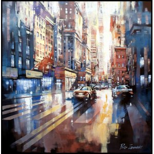 Piotr Zawadzki, Metropolis - New York City Gold, 2020