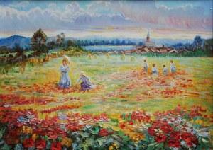 Jerzy Pogorzelski (1926-2003), Zbieranie kwiatów