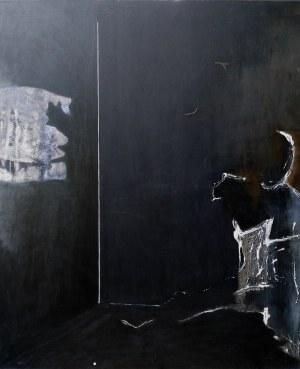 Edyta Duduś, W czarnym pokoju, z cyklu Zasłony, 2013