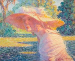 Eugeniusz Urbański-Nieczuja (1877-1955), Dama w alei parkowej, 1922 r.
