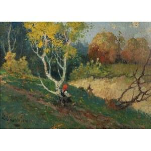 Edmund Cieczkiewicz (1872 Lwów - 1958 Rytro), Dziewczyna przy skarpie