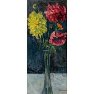 Georg Wichmann (1876 Lwówek Śląski - 1944 Szklarska Poręba), Kwiaty w szklanym wazonie