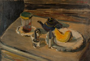 Maurice Blond (1899 Łódź – 1974 Clamart), Martwa natura z imbrykiem
