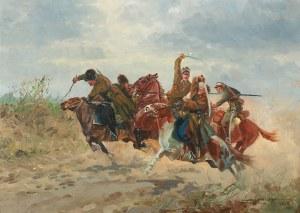 Leonard Winterowski (1868 Kraków - 1927), Potyczka ułanów z bolszewikami, 1925 r.