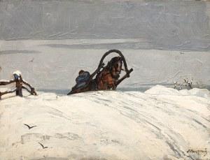 Stanisław Eleszkiewicz (1900 Czutowo k. Połtawy - 1963 Paryż), Jazda saniami na wzgórze