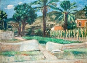 Zygmunt Menkes (1896 Lwów - 1986 Riverdale), Pejzaż z Ibizy, 1935 r.
