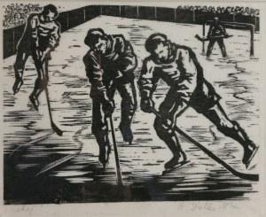 Stefania  DRETLERE-FLIN (1909-1994), Hokej, 1949