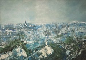 Anna Piórek, Paryska impresja II - Dachy Paryża, 2018