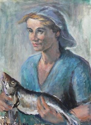 Ignacy Klukowski (1908 Łotowianki-1978 Gdańsk), Rybaczka, 1967 r.