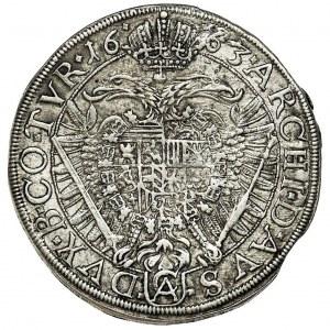 Austria, Leopold I Habsburg, 15 Kreuzer Wien 1663 CA