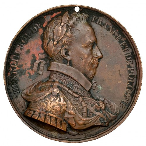 France, Henry III of France, Medal of the entourage of French kings 1835