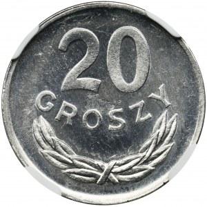 20 groszy 1980 - NGC MS64 - JAK LUSTRZANKA
