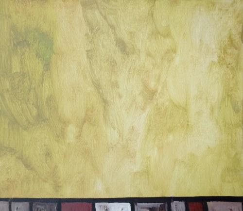 Anna Świtalska-Jończyk Żółta ściana z cyklu: Wnętrza zapomniane