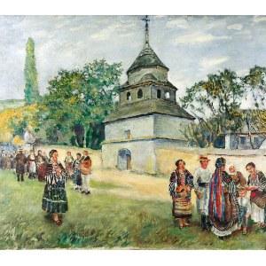 Władysław JAROCKI (1879-1965), Przed kościołem, lata 20. XX w.