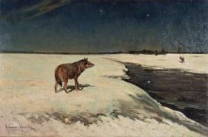 Alfred WIERUSZ-KOWALSKI (1849-1915), Wilki zimą