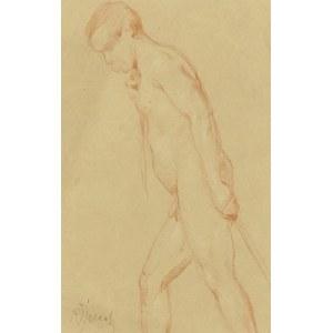 Kasper ŻELECHOWSKI (1863-1942), Akt mężczyzny ciągnącego linę