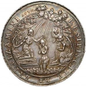 Medal obrzezanie i chrzest Jezusa (~1640 r.) RESIPISCITE... (Höhn)