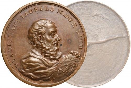 Medal SUITA KRÓLEWSKA - Władysław Jagiełło - odbitka jednostronna - brąz