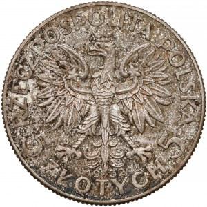 Głowa Kobiety 5 złotych 1932 ze znakiem, Warszawa - rzadkie
