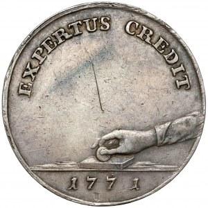 Poniatowski, PRÓBA 1771 Dwuzłotówka - kamień probierczy