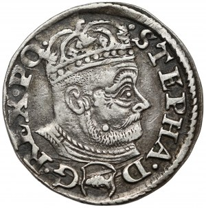 Stefan Batory, Trojak Olkusz 1580 - Glaubicz w tarczy - B.RZADKI