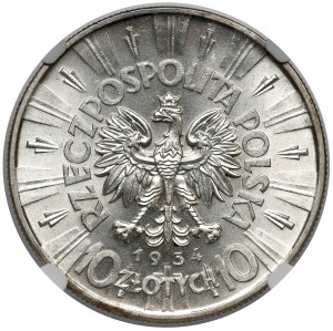 Piłsudski 10 złotych 1934 - urzędowy - piękny