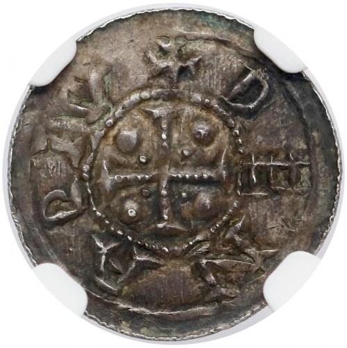 Bolesław III Krzywousty, Denar - Książę na tronie - PIĘKNY