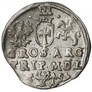 Zygmunt III Waza, Trojak Wilno 1597 - Lidman - piękny