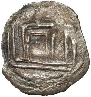 Litwa, Witold (1392-1430), Denar litewski (1398-1401), Łuck - Lew / Kolumny