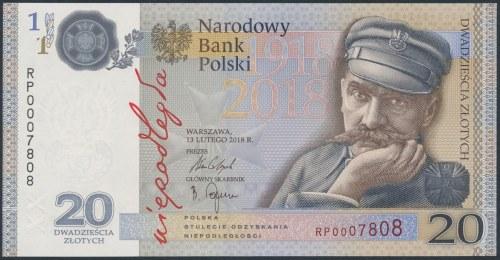 20 złotych 2018 - Niepodległość nr 7808 - w folderze PWPW
