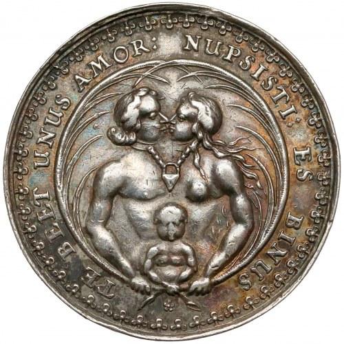 Gdańsk, Medal zaślubinowy autorstwa Jana Höhn - NUPSISTI...