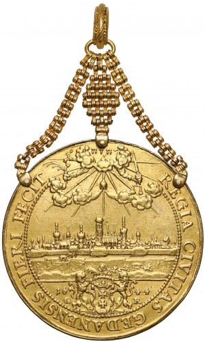 Władysław IV Waza, 10 dukatów Gdańsk 1644 - Donatywa - oryginalny klejnot XVII wieku