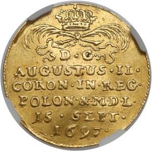 August II Mocny, Dukat koronacyjny 1697 - PRO REGNO