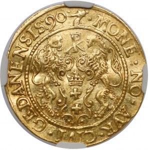 Zygmunt III Waza, Dukat Gdańsk 1590 - menniczy - rzadki