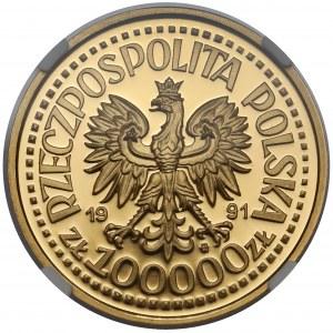 Próba ZŁOTO 100.000 złotych 1991 Jan Paweł II - Ołtarz