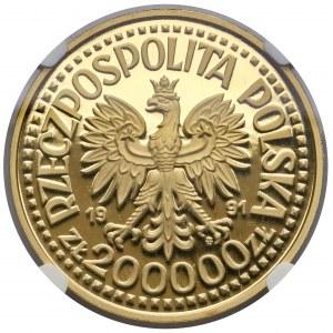Próba ZŁOTO 200.000 złotych 1991 Jan Paweł II - Ołtarz