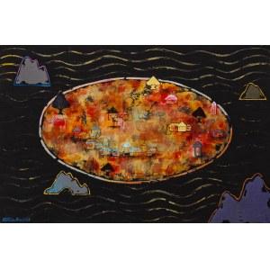Grażyna Kilanowicz-Barecka, Kompozycja 1 z cyklu Wyspy, 2018