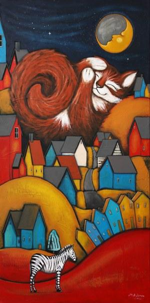 Małgorzata Rukszan, O czym śnią koty? z cyklu Pogoda w paski, 2020