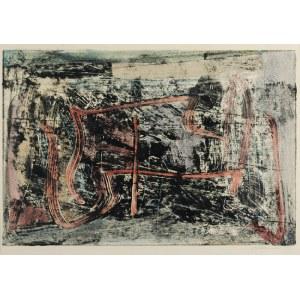 Czesław SADOWSKI (1902-1959), Kompozycja IV - z czerwonymi liniami, 1958