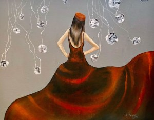 Agata PADOL, Czerwona suknia II, 2019 r.