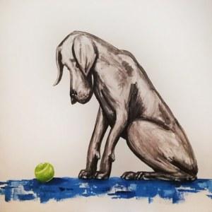 Aleksandra Lacheta, Pies z piłką, 2018