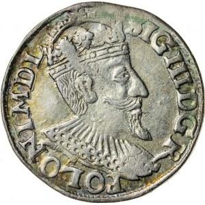 Zygmunt III Waza (1587–1632), trojak koronny, Olkusz; 1595