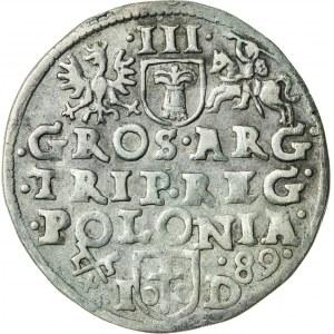 Zygmunt III Waza (1587–1632), trojak koronny, Poznań; 1589