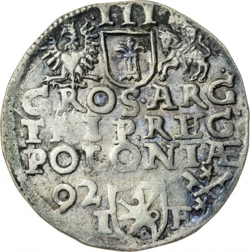 Zygmunt III Waza (1587–1632), trojak koronny, Poznań; 1592